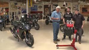 jay leno rides the motus v4 motorcycle
