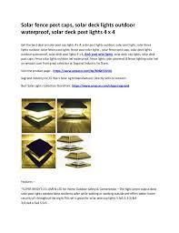 Deck Post Solar Lights Solar Deck Cap Lights Solar Deck Post Caps