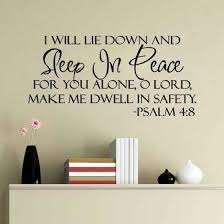 Shop Sleep In Peace Bible Verse Decor Vinyl Wall Decal Quote Sticker Inspiration Online From Best Gaming Accessories On Jd Com Global Site Joybuy Com