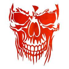 Smile Skull Car Hood Door Decor Sticker Auto Graphic Decal Car Tailgate Window