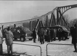 Image result for 1962, Soviet and American officials swap spies in Berlin.