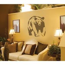 Sudden Shadows 29 In X 26 In Bear Wall Decal 02236 The Home Depot