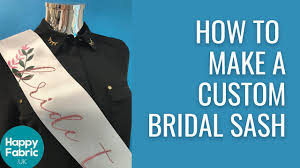 How To Make Your Own Custom Bridal Sash With Iron On Vinyl Youtube