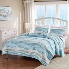 Amazon.com: Greenland Home Maui Quilt Set, Full/Queen, Blue: Home & Kitchen