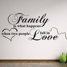 family love wall sticker quote wall chimp uk