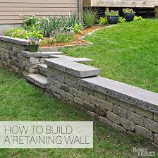 how to build a retaining wall better