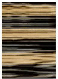 handwoven striped jute rug black and