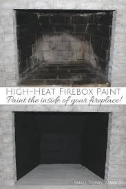 fireplace makeover painting the