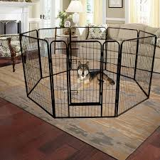 Pet Supplies Large Dog Pet Animal Exercise Play Pen Portable Fence Cage 16 Steel Panels Bp Cages Enclosure