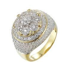 custom pinky ring men 14k gold finish