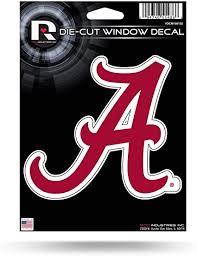 Amazon Com Ncaa Rico Industries Die Cut Vinyl Decal Alabama Crimson Tide Team Color 5 X 7 Inches Sports Fan Decals Sports Outdoors