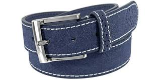 navy blue leather belt suede leather