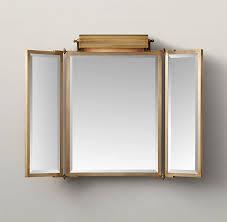 tri fold lit wall mirror wall mirrors