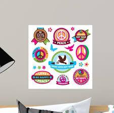 Set Peace Symbols And Wall Stickers Wall Decal Wallmonkeys Com