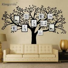 Huge Family Photos Tree Vinyl Wall Stickers Black Tree Branches Decals Wallpaper Wall Sticker For Living Room Sofa Home Decor Vinyl Wall Stickers Wall Stickerwall Sticker Black Aliexpress