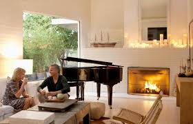decorating a fireplace with candles