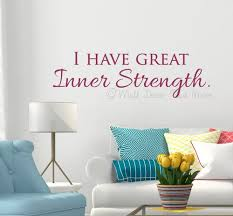 Wall Decal Stickers Affirmation Quote I Have Great Inner Strength