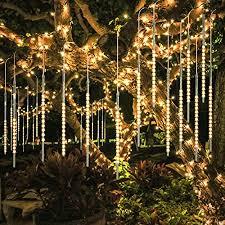 Bluefire Upgraded Meteor Lights 50cm 10 Helical Tubes 540 Leds Rain Drop Lights For Wedding Christmas Garden Tree Home Decor Warm White Amazon Co Uk Kitchen Home