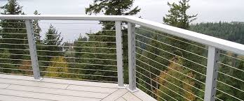 Stainless Steel Cable Railing Inc For Decks Hardware Home Elements And Style Exterior Outdoor Systems Kits Deck Depot Do It Yourself Railings Crismatec Com