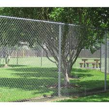 6 Ft H X 50 Ft L Galvanized Steel Chain Link Fence Fabric In The Chain Link Fence Fabric Department At Lowes Com