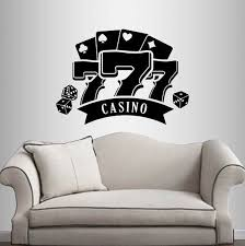 Wall Vinyl Decal Home Decor Art Sticker Casino Royal Games Etsy