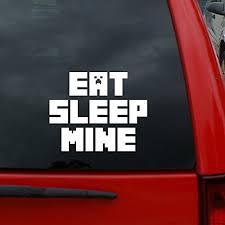 Eat Sleep Mine Minecraft 5 Tall Vin Buy Online In China At Desertcart
