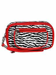 zebra print wristlet makeup case