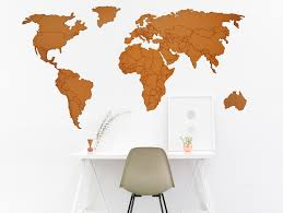 World Map Country Borders Sandpipery
