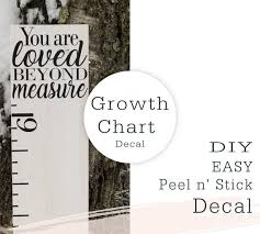 Diy Growth Chart You Are Loved Beyond Measure Vinyl Growth Etsy