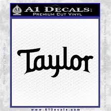 Taylor Guitars Logo Vinyl Decal Sticker A1 Decals