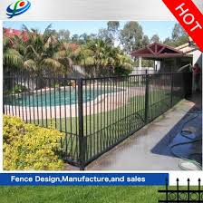 China High Security Black Aluminum Flat Top Pool Fence For House Garden Villa China Garden Fence And Security Fence Price