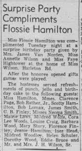 Flossie Hamilton - Surprise Party - Newspapers.com