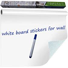 Amazon Com Wishave Large Dry Erase Whiteboard Sticker Wall Decal Self Adhesive White Board Sticker Vinyl Peel And Stick Paper For School Office Home Kids Drawing With 1 Marker 78 7 X 17 5 Inch