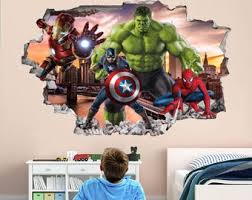 Avengers Wall Decal Etsy