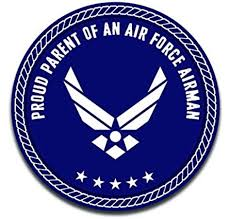 Amazon Com More Shiz Proud Parent Of An Air Force Airman Decal Sticker Car Truck Van Bumper Window Laptop Cup Wall Two 5 Inch Decals Mks0315 Automotive
