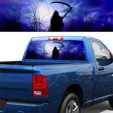 135x36cm Car Rear Window Graphic Decal Grim Reaper Horror Forest Car Sticker For Truck Suv Jeep Car Stickers Aliexpress
