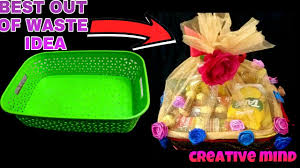 decor waste basket for wedding gift