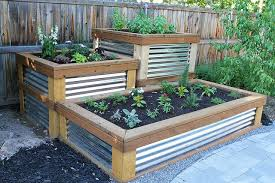 to build the raised herb garden the