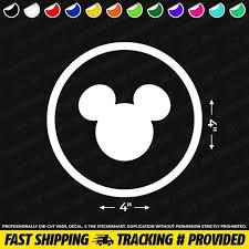 Disney World Mickey Head Circle 4x4 Vinyl Decal Etsy