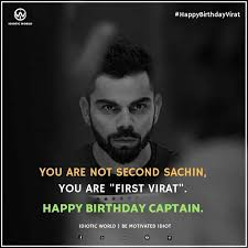 happy birthday captain virat kohli for more quotes follow