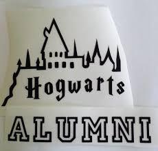 Vinyl Decal Hogwarts Alumni Wizard School Gryffindor Etsy In 2020 Vinyl Decals Hogwarts Alumni Wizard School