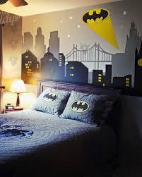 Gotham City Night Scene With Batman Light Wall Decal Large Set