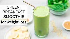 green breakfast smoothie for weight
