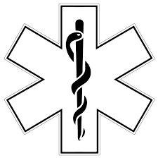 White Star Of Life Reflective Window Decal Police Fire Ems Viny Graphics Stickers Decals Dkedecals