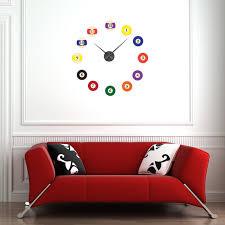 Style And Apply Billiard Balls Wall Clock Wall Decal Wayfair