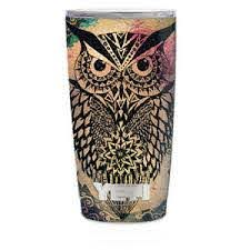 Skin Decal For Yeti 20 Oz Rambler Tumbler Cup Tribal Abstract Owl 647358137196 Ebay