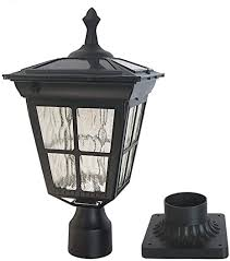 Kemeco St4311aq Led Cast Aluminum Solar Post Light Fixture With 3 Inch Fitter Base For Outdoor Garden Post Pole Mount Amazon Com