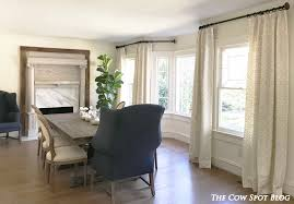The Cow Spot Dining Room Curtains