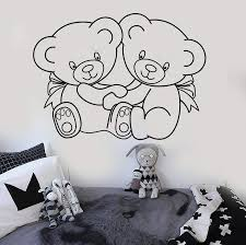 Vinyl Wall Decal Teddy Bear Nursery Kids Room Stickers Mural Unique Gi Wallstickers4you