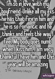 i m so in love my boyfriend unlike all my exs he has that fire